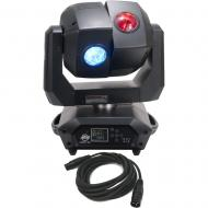 American DJ 3 Sixty 2R Dual Moving Head Light with DMX Cable