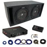 """Kicker Car Audio Class D Sub Amp Amplifier with Kicker 15"""" CompR CWR15 Series Sub 800W RMS 4..."""
