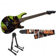 Peavey The Walking Dead Riot Rockmaster with Survivors Guitar Strap & Stand