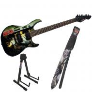 Peavey The Walking Dead Wrap Predator with Cliff Walker Guitar Strap & Stand