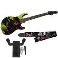 Peavey The Walking Dead Riot Rockmaster with Walkers Guitar Strap & Hanger