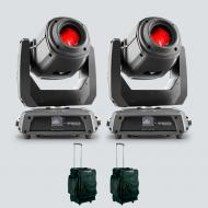 Chauvet DJ Intimidator Spot 375Z IRC Moving Head Lights (2) with Carrying Cases (2)
