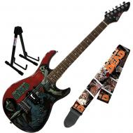 Peavey Walking Dead Michonne Slash Guitar with Survivors Strap and Stand