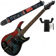 Peavey Walking Dead Michonne Slash Guitar with Group Strap and Hanger