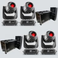 Chauvet DJ Intimidator Spot 375Z IRC Moving Head Lights (4) with Rolling Road Cases (2)