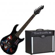 Peavey Bandit 112 Amp and 3/4 Size Marvel Captain America Guitar