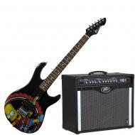 Peavey Bandit 112 Amp and Bart Simpson Guitar