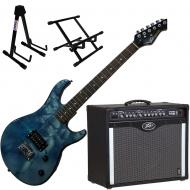Peavey Bandit Amp and Star Wars Stormtrooper Guitar with Amp and Guitar Stands