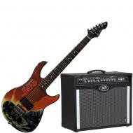 Peavey Bandit 112 Amp and Walking Dead Governor Guitar