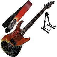 Peavey Walking Dead Governor Red Guitar with Strap and Stand