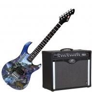 Peavey Bandit 112 Amp and Marvel Guardians of the Galaxy Guitar