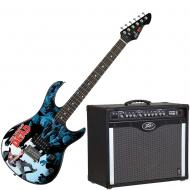 Peavey Bandit 112 Amp and Walking Dead Carl Surrounded Guitar
