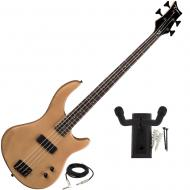 Dean Edge 09 Satin Natural Bass Guitar with Peavey Hanger and Mounting Screws