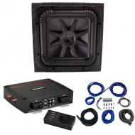 Kicker L7S12 Solo-Baric Subwoofer Sealed Box with 44KXA8001 Amp & Install Kit