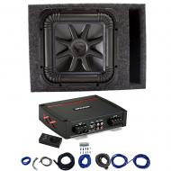 Kicker L7S12 Solo-Baric Subwoofer Vented Box with 44KXA8001 Amp & Install Kit
