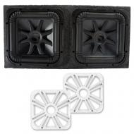 Kicker L7S12 Solo-Baric Subwoofers Sealed Box with White LED Grills
