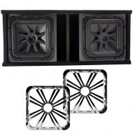 Kicker L7S12 Solo-Baric Subwoofers Ported Box with Chrome LED Grills