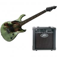 Peavey Man Of Steel Superman Rockmaster Electric Guitar and Backstage Amp