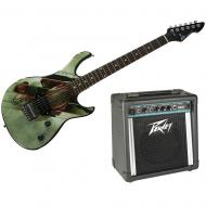 Peavey Man Of Steel Superman Rockmaster Electric Guitar and Solo Amp