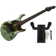 Peavey Man Of Steel Superman Rockmaster Electric Guitar and Wall Hanger