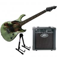 Peavey Superman Rockmaster Electric Guitar, Stand, & Backstage Amp