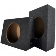 "Single 12"" Subwoofer Standard Cab Truck Sub Box Enclosure Two Pack (2 Items)"