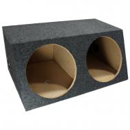 "Car Audio Dual 12"" Sealed Subwoofer Salnted Hatchback Stereo Sub Box Enclosure"