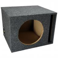 "Car Audio Single 10"" Vented Subwoofer Stereo Sub Box Ported Enclosure 5/8"" MDF"