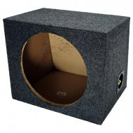 "Car Audio Single 12"" Sealed Subwoofer Rear Angle Sub Box Enclosure 5/8"" MDF Wood"