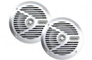 "Alpine SPS-M601 Marine Audio Boat 6 1/2"" Coaxial Speakers Silver Speaker Pair"