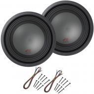 "Alpine R-W10D2 Car Audio Type R Dual 2 Ohm 1500W 10"" Subwoofers with Install Kit"