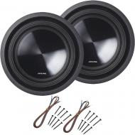 Alpine SWT-10S2 Car Audio SWT Single 2 Ohm 700W Subwoofers with Install Kit
