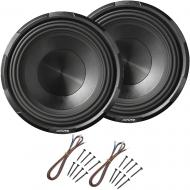 "Alpine X-W10D4 Car Audio Type X Dual 4 Ohm 1800W 10"" Subwoofers with Install Kit"