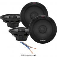"""Alpine R-S65.2 Type R Series 6 1/2"""" 200W Speakers - 2 Pair with 20' Wire"""