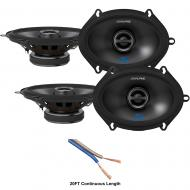 "Alpine S-S57 Car Audio Type S Series 5x7"" 300W Speakers - 2 Pair with 20' Wire"
