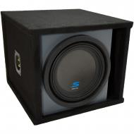 """Universal Car Stereo Paintable Ported 10"""" Alpine Type S S-W10D4 Sub Box Enclosure - Final 2 Ohm"""