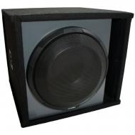 "Universal Car Stereo Paintable Ported 12"" Alpine Type X X-W12D4 Sub Box Enclosure - Final 2 Ohm"