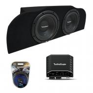 03-15 Fits Infiniti G35 Coupe Rockford R1S410 Subwoofer Dual 10 Sub Box R2-250X1