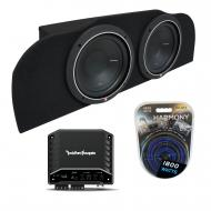 03-15 Fits Infiniti G35 Coupe Rockford P1S410 Subwoofer Dual 10 Sub Box R2-500X1