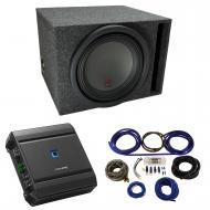 """Universal Car Stereo Vented Port Single 12"""" Alpine Type R R-W12D4 Sub Box Enclosure with S-A..."""