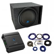 """Universal Car Stereo Vented Port Single 12"""" Alpine Type S S-W12D4 Sub Box Enclosure with S-A..."""