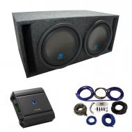 "Universal Car Stereo Slotted S Port Dual 8"" Alpine Type S S-W8D2 Sub Box Enclosure with S-A6..."