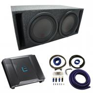 "Universal Car Stereo Slotted S Port Dual 8"" Alpine Type R SWR-8D2 Sub Box Enclosure with R-A..."