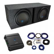 "Universal Car Stereo Vented Port Dual 10"" Alpine Type S S-W10D2 Sub Box Enclosure with S-A60..."