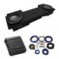 2002-2013 Cadillac Escalade EXT Underseat Alpine Type S S-W10D2 Dual 10 Sub Box Enclosure with S-...