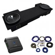 2002-2013 Cadillac Escalade EXT Underseat Alpine SWT-10S4 Dual 10 Sub Box Enclosure with S-A60M A...