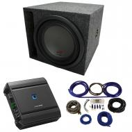 "Universal Car Stereo Slotted S Port Single 8"" Alpine Type R SWR-8D4 Sub Box Enclosure with S..."