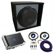 "Universal Car Stereo Paintable Ported 12"" Alpine Type X X-W12D4 Sub Box Enclosure with X-A90..."