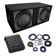 "Universal Car Stereo Dual 10"" Alpine Type S S-W10D2 Bundle with Paintable Ported Sub Box Enc..."