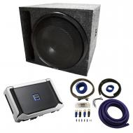 """Universal Car Stereo Slotted S Port Single 12"""" Alpine Type X X-W12D4 Sub Box Enclosure with ..."""